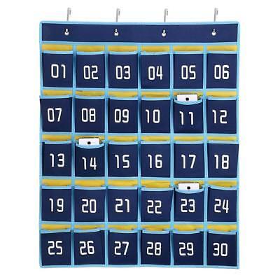 30-Pocket Numbered Classroom Cellphone Storage Calculator Holder Wall Door Mount](Classroom Storage)