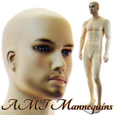 Male Mannequin Full Body Man With Beard Manequin Handmade Manikin - Vern-xm-11
