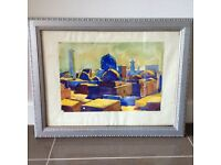 Watercolour of Khiva 1965 in antique frame.