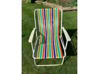 Colourful folding deckchair