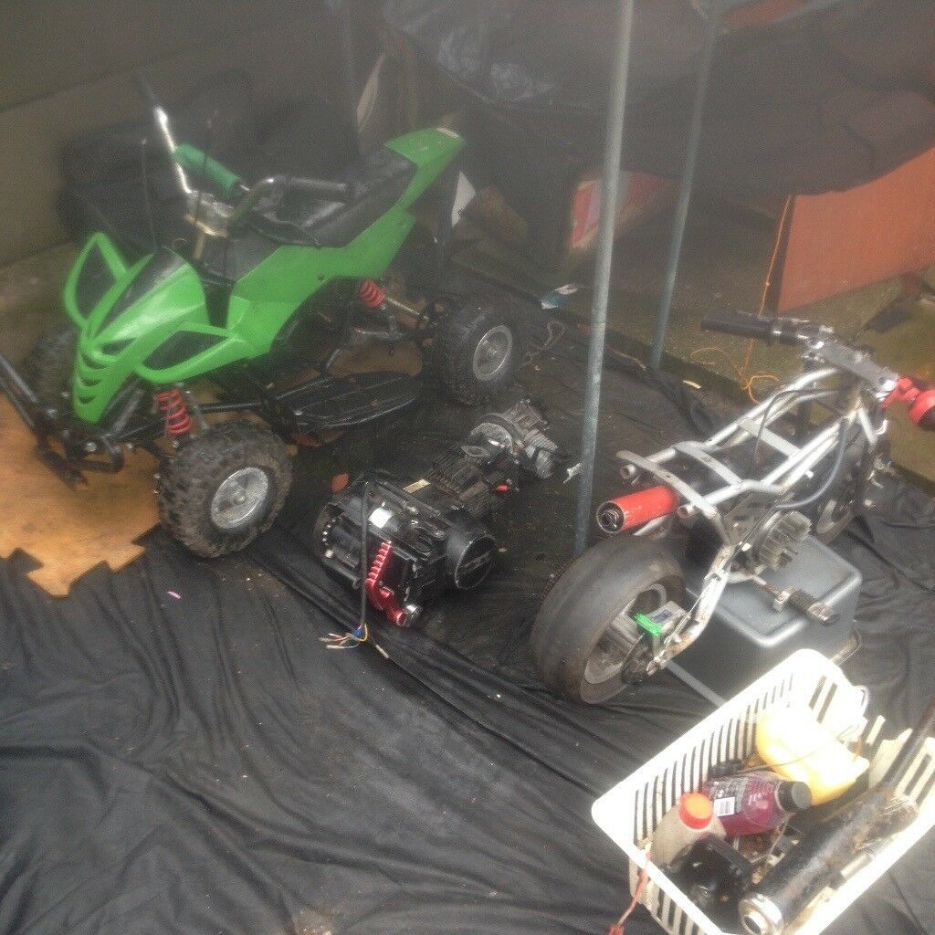 Job lot of a mini qaud and a mini moto and a 140cc lifan engine all run just selling as a job lot