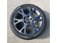 Alloy wheel and tyre fits honda, subaru, nissan and others.