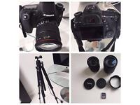 Canon EOS 70D Camera with huge accessories bundle worth over £1,000! Available to collect today!