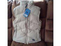 BRAND NEW with tags ladies beige gillet size s (8/10)