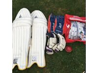 Cricket Batting Pads, Gloves and Keeper Gloves