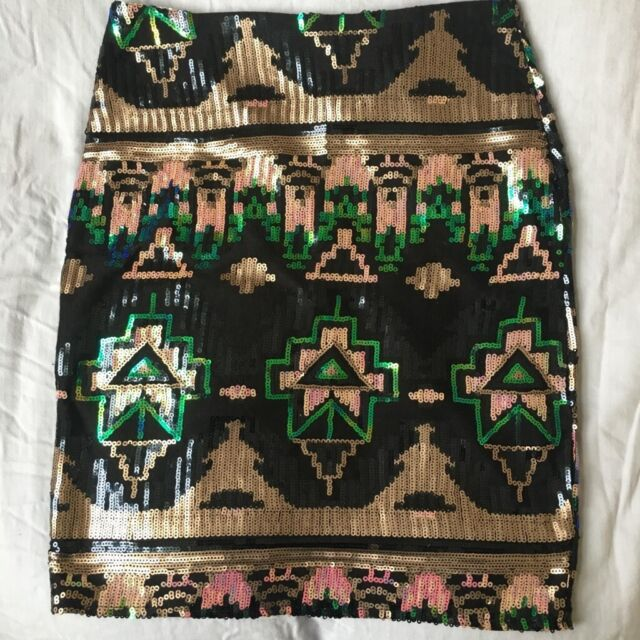 b0339e5d Club L Aztec print sequin skirt - size 10 never worn | in Westminster ...