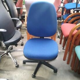 Blue Operator Chair without armrests