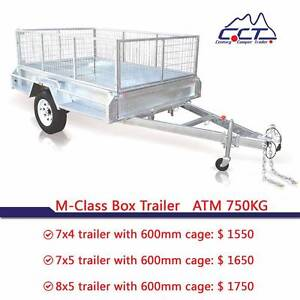 Solid Axle 7x4 7x5 8x5 Welded Hot Dipped Galvanized Box Trailer Rocklea Brisbane South West Preview