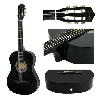 "38"" Black Acoustic Guitar Starter Package(Guitar, Gig Bag, Strap, Pick) Portable"