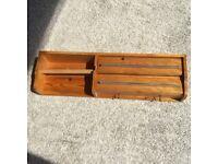 Pine wooden Kitchen Towel, Aluminium Foil, Clingfilm holder