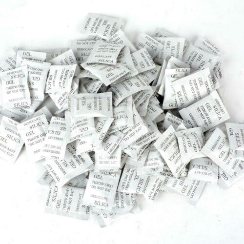 100Pcs Silica Gel Non-Toxic Desiccant Moisture Absorber Packets Drying Bag