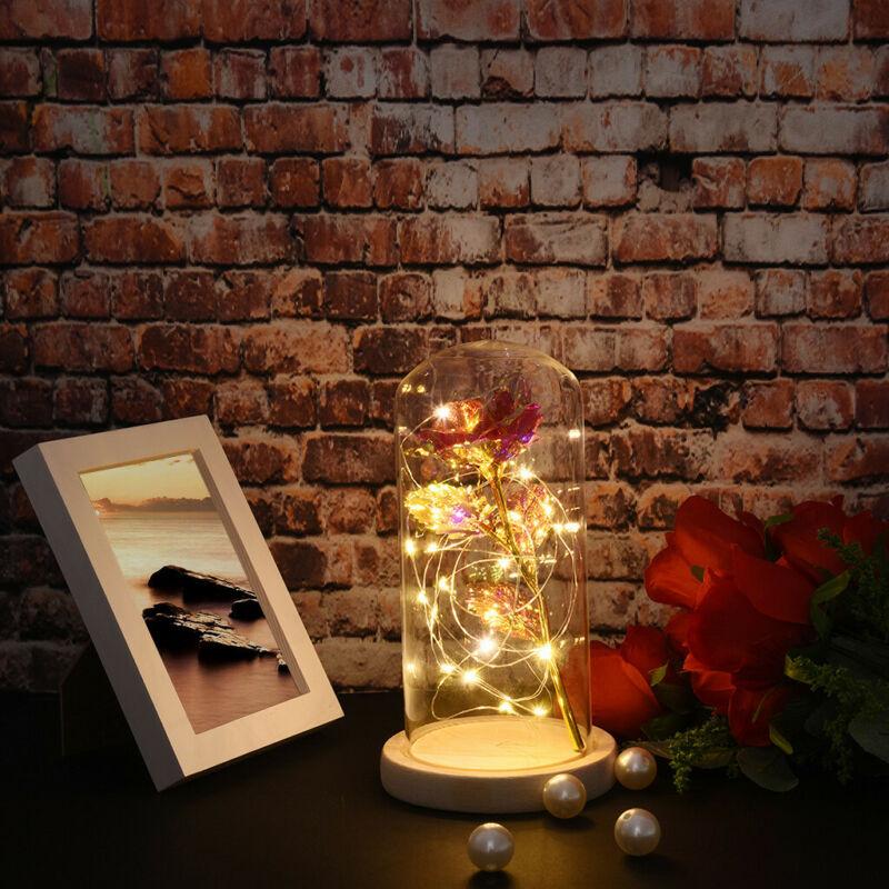 Sister Birthday Gift Heart Love Rose LED Light Souvenir Deco