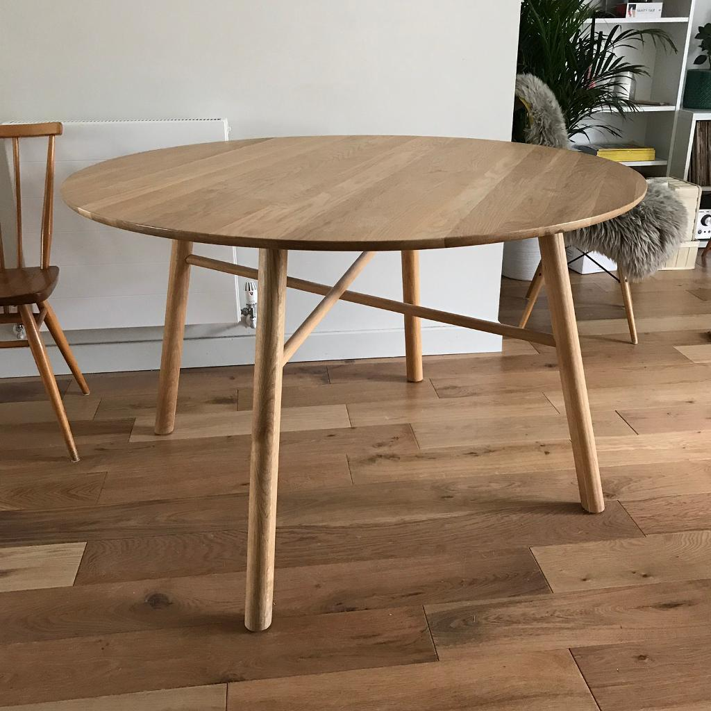 John Lewis Says Who Danish Solid Oak Round Dining Table