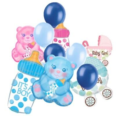 Baby Boy Ballon (XXL Folienballon It 's a Boy / Girl  Luftballons Folienballons Baby Party Helium)