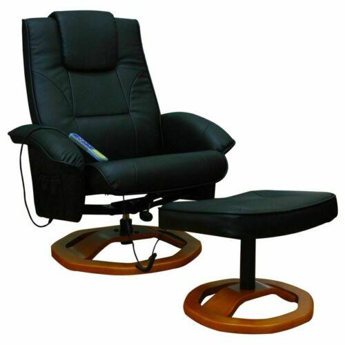 Massagesessel Hocker Elektrisch Fernsehsessel Relaxsessel Schwarz