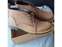 New mens brown/tan boots size 9