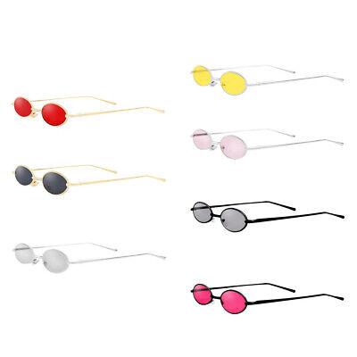 Sonnenbrille Kleine Runde Metallrahmen Oval Unisex Gläser für Fahren Reisen