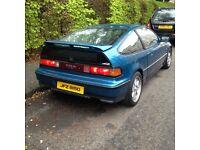 Honda crx vtec 1988-1991 rear bumper calestial blue