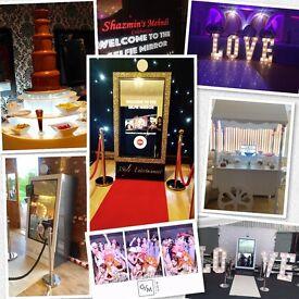 Selfie Mirror Magic Mirror Photo Booth Giant Love Letters Chocolate Fountain Sweet Cart & Dj's...
