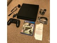 PS4 Slim With 2TB Storage, Receipt and Call Of Duty
