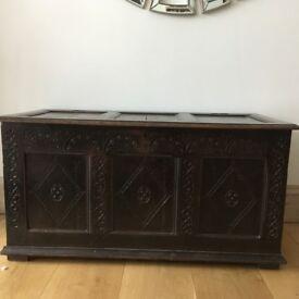 Original antique wooden chest