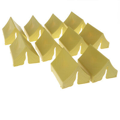 10PCS Military Model Scene Toy Soldiers Army Men Accessory -Tent Yellow