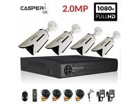 Home Shop CCTV HD 2MP 1080P Nigh Vision Surveillance Security Cameras System Kit
