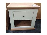White and Oak Effect 1 Drawer Bedside Cabinet
