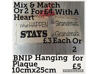 BNIP What Happens At Grandmas Rectangular Plaque