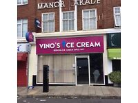 Shop to Let in Harrow, popular parade, previous ice cream shop. Available immediately