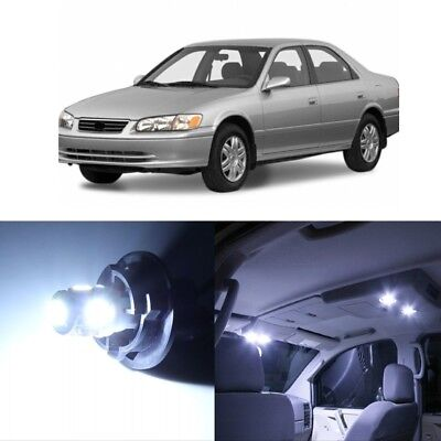 8 x White LED Interior Lights Package For 1997 - 2001 Toyota Camry + PRY TOOL