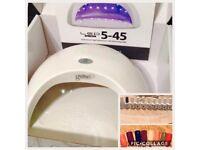 Gelish Harmony LED 5-45 Lamp & 10 Gelish Harmony polishes