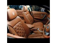 MINICAB LEATHER SEAT COVERS FOR MERCEDES VITO RENAULT TRAFFIC VAUXHALL VIVARO FORD TRANSIT TOURNEO