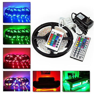 20M 15M 10M 5M 3528SMD LED RGB Color Change Strip Light Kit Flexible Dimmable - Indoor String Lights