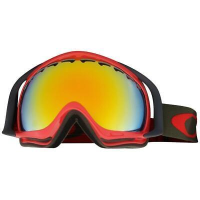 Oakley OO 7005N-10 Crowbar Red Herb w/ Fire Iridium Mens Snow Ski Goggles .