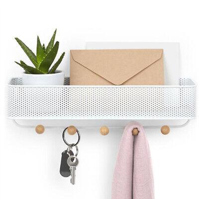 Home Wall Mount Key Rack Holder Organizer Hook Storage Decor with 5 Hooks