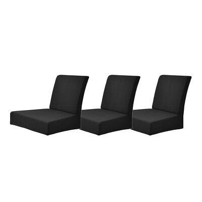 Zurück Bar Stuhl (3 Stücke Schwarz Barhocker Stuhlabdeckung Niedrig Zurück Stühle Hussen)