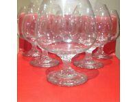 SIX BRANDY GLASSES