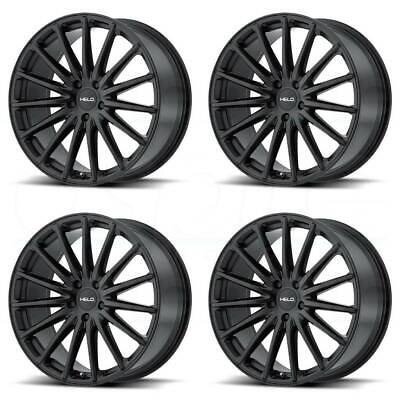 20x8.5 Satin Black Wheels Helo HE894 5x114.3/5x4.5 38 (Set of 4)