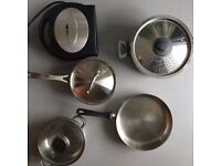 Pots and Pans cookware and Toast Maker VERY GOOD CONDITION bundle