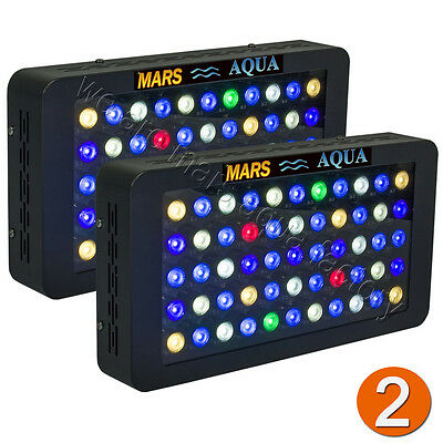 2PCS MarsAqua Dimmable 165W LED Aquarium Light Full Spectrum Reef Coral Marine