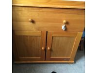 Wood baby changing unit for sale