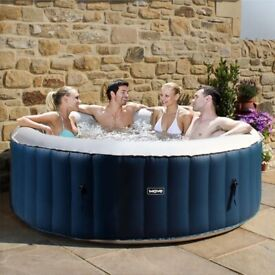 BLUE Inflatable 6person Hottub - ATLANTIC PLUS, Cleverspa/WaveDirect