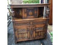 Large vintage court cupboard in excellent condition