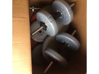 Weights bench and assortment of weights - £50 - Wolverhampton