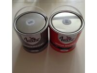 Two 2.5ltr tins of trade unopened brilliant white gloss and undercoat