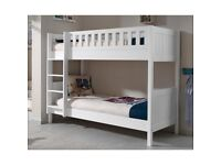 Lakewood White Wooden Bunk Bed (New)