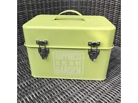 Green garden storage box