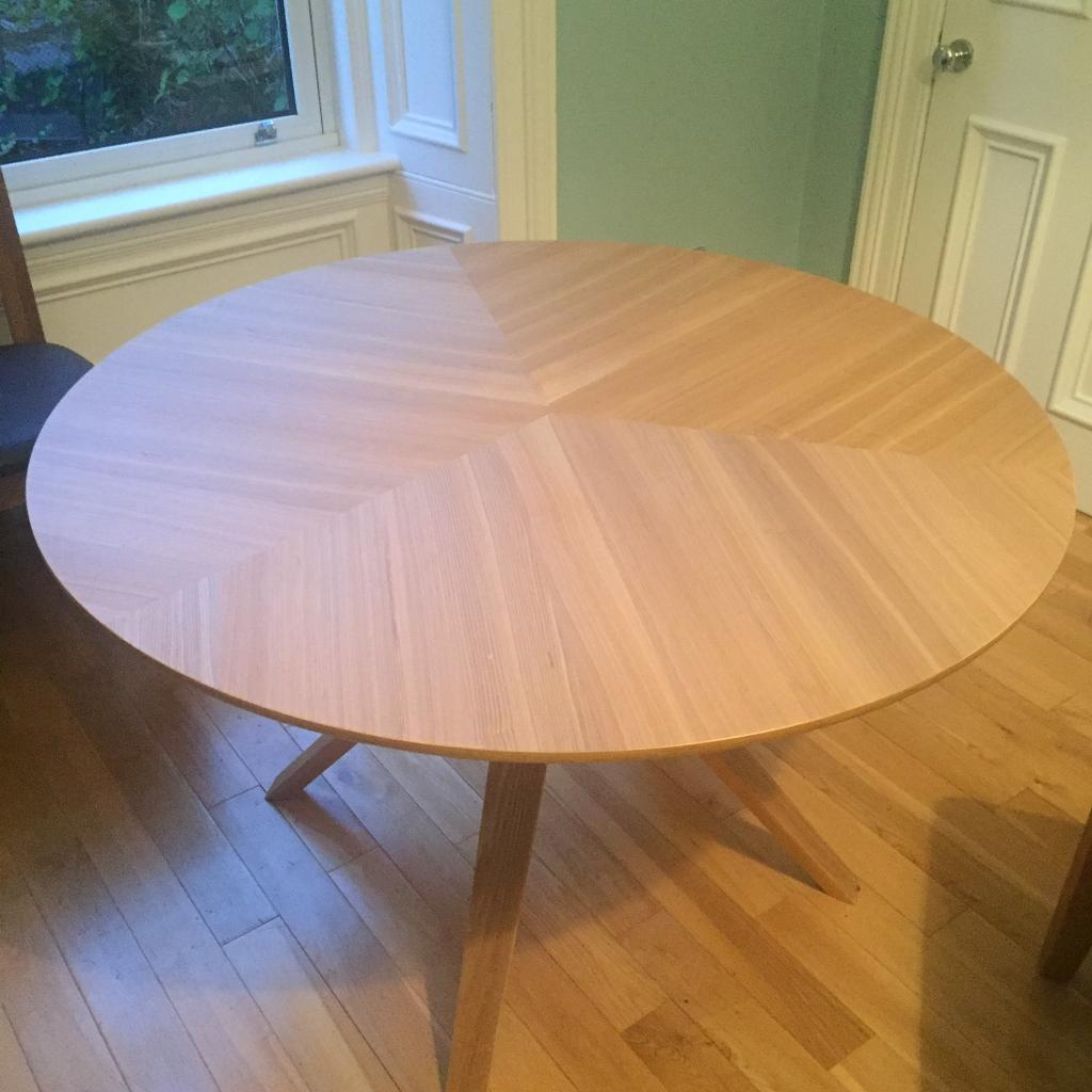 Folding side table john lewis - John Lewis Radar 6 Seater Round Dining Table Oak