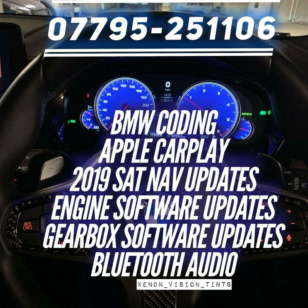 BMW Coding Video In Motion, Software Updates, Enhance Bluetooth, 2019 Sat  Nav Updates,Apple CarPlay | in Swanley, Kent | Gumtree